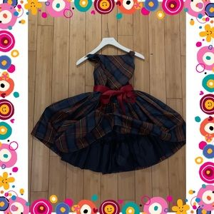 Ralph Lauren plaid taffeta dress for girls